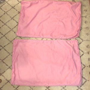 2 pottery barn teen pink pillow cases